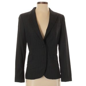 Zara Basic Black Pinstripe Fitted Blazer Size 4